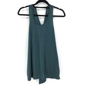 Athleta Sz S Essence Tie Back Tank Top Green